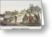 Trader Greeting Cards - Fur Traders, 1853 Greeting Card by Granger