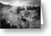 Sleeping Volcano Greeting Cards - Furnas volcano Greeting Card by Gaspar Avila
