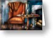 Aunt Greeting Cards - Furniture - Chair - Aunt Ruthies Chair  Greeting Card by Mike Savad