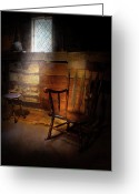 Forgotten Greeting Cards - Furniture - Chair - Forgotten Memories  Greeting Card by Mike Savad
