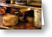 Counter Greeting Cards - Furniture - Table - Curious Items for sale  Greeting Card by Mike Savad