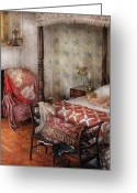 Slumber Greeting Cards - Furniture - Bedroom - A place to sleep Greeting Card by Mike Savad