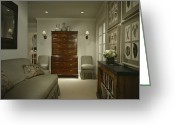 Art Of Building Greeting Cards - Furniture In Upscale Home Greeting Card by Robert Pisano