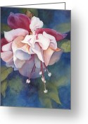 Fushia Painting Greeting Cards - Fushia Greeting Card by Michele Thorp