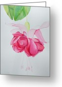 Fushia Painting Greeting Cards - Fushia Greeting Card by Susan Porter