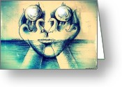 Sacred Body Greeting Cards - Fusion Of Soul To Body Greeting Card by Paulo Zerbato