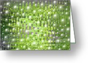Light Gray Greeting Cards - Future Forest Abstract Greeting Card by Carol Groenen