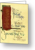 Biblical Mixed Media Greeting Cards - Future Hope I Greeting Card by Judy Dodds