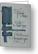 Biblical Mixed Media Greeting Cards - Future Hope II Greeting Card by Judy Dodds