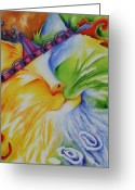 Deb Harvey Greeting Cards - Fuzzy Greeting Card by Deb Harvey