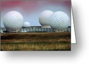Raf Greeting Cards - Fylingdales Long-range Radar Station, Uk Greeting Card by Vaughan Fleming