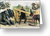 Political Acts Greeting Cards - G. Cleveland Cartoon, 1895 Greeting Card by Granger