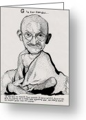 The Love Letter Greeting Cards - G is for Gandhi Greeting Card by Jason Kasper