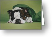 Undercover Greeting Cards - Gabby Greeting Card by Jennifer Batey