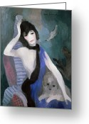 Artcom Greeting Cards - Gabrielle Coco Chanel Greeting Card by Granger