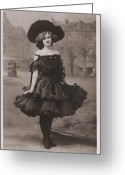 1905 Greeting Cards - Gabrielle Ray ca.1905 Greeting Card by Stefan Kuhn