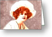 1905 Greeting Cards - Gabrielle Ray Portrait  Greeting Card by Stefan Kuhn