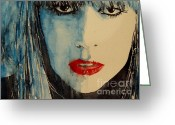Icon  Painting Greeting Cards - Gaga Greeting Card by Paul Lovering
