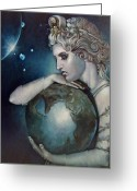 Greek Sculpture Painting Greeting Cards - Gaia Greeting Card by Geraldine Arata