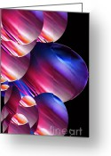Outerspace Greeting Cards - Galactic Orbs Greeting Card by Vicki Lynn Sodora