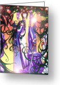Fairy Mixed Media Greeting Cards - Galadriel Greeting Card by Curtiss Shaffer