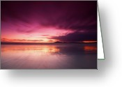 Cloudscape Greeting Cards - Galapagos View At Sunset Greeting Card by Andre Distel Photography
