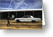 Fairgrounds Greeting Cards - Galaxie 500 7 Greeting Card by Thomas Young