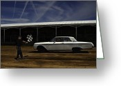 Fairgrounds Greeting Cards - Galaxie 500 8 Lightest Greeting Card by Thomas Young