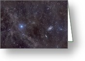 Flux Greeting Cards - Galaxies M81 And M82 As Seen Greeting Card by John Davis