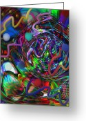 Outerspace Greeting Cards - Galaxy of chaos Greeting Card by Kevin Caudill