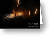 Pyrotechnics Greeting Cards - Galaxy of sparks Greeting Card by Agusti Pardo Rossello