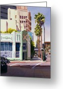 Wilshire Blvd. Greeting Cards - Gale Cafe on Wilshire Blvd Los Angeles Greeting Card by Mary Helmreich