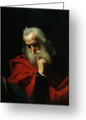 Elderly Painting Greeting Cards - Galileo Galilei Greeting Card by Ivan Petrovich Keler Viliandi