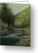 Gallatin River Greeting Cards - Gallatin River Greeting Card by James Corwin