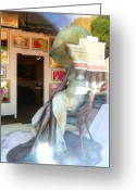 Chic Greeting Cards - Gallery Window Greeting Card by Lori Seaman