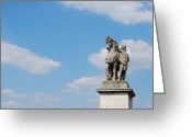 Occupy Greeting Cards - Gallic Warrior Greeting Card by JAMART Photography