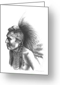 Native Drawings Greeting Cards - Gambler Greeting Card by Lee Updike