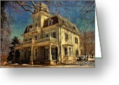 National Digital Art Greeting Cards - Gambrill Mansion Greeting Card by Lianne Schneider