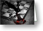 Gore Greeting Cards - Game - Chess - Check Mate Greeting Card by Mike Savad