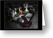 Selective Color Greeting Cards - Game - Chess - Its only a Game Greeting Card by Mike Savad