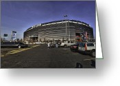 Ny Jets Greeting Cards - Game on Greeting Card by Ryan Crane