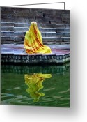 Skiphunt Greeting Cards - Ganga Dream Greeting Card by Skip Hunt