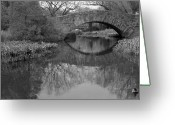 Central Park Photo Greeting Cards - Gapstow Bridge - Central Park - New York City Greeting Card by Holden Richards