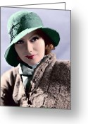 Greta Garbo Greeting Cards - Garbo 2 Greeting Card by Tyler Robbins
