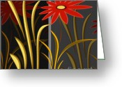 Flowers Greeting Cards - Garden Greeting Card by Ben and Raisa Gertsberg