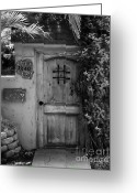 Screen Doors Greeting Cards - Garden Doorway 2 Greeting Card by Perry Webster