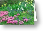 Pretty Flowers Greeting Cards - Garden Escape Greeting Card by Aimee L Maher