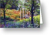 Most Greeting Cards - Garden for Dreaming Greeting Card by David Lloyd Glover