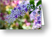 Florida Flowers Greeting Cards - Garden Full of Colors Greeting Card by Sabrina L Ryan