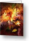 Contemporary Greeting Cards - Garden Glow Greeting Card by David Lane